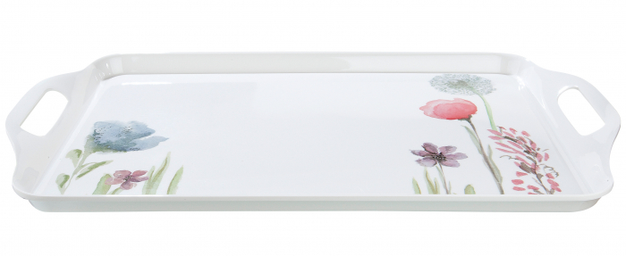 Tava Sweet Blossom, melamina, multicolor, 48.5x2.5x29.5 cm 2021 lotusland.ro