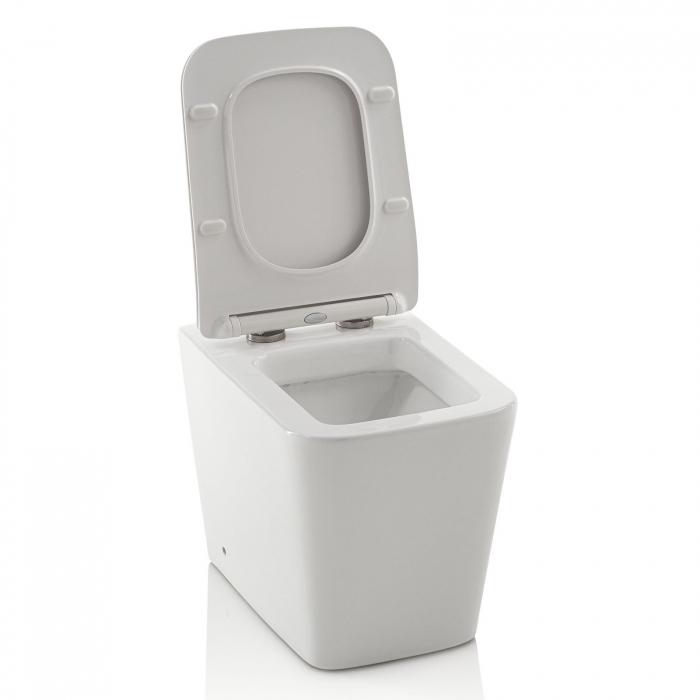 Toaleta montata pe podea SQUARE, Ceramica, Alb,  56x36x40 cm 1