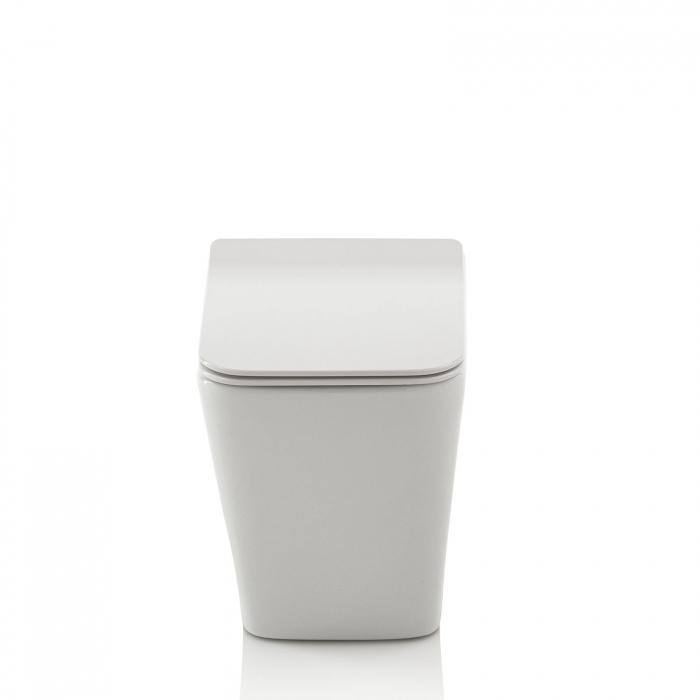 Toaleta montata pe podea SQUARE, Ceramica, Alb,  56x36x40 cm 2