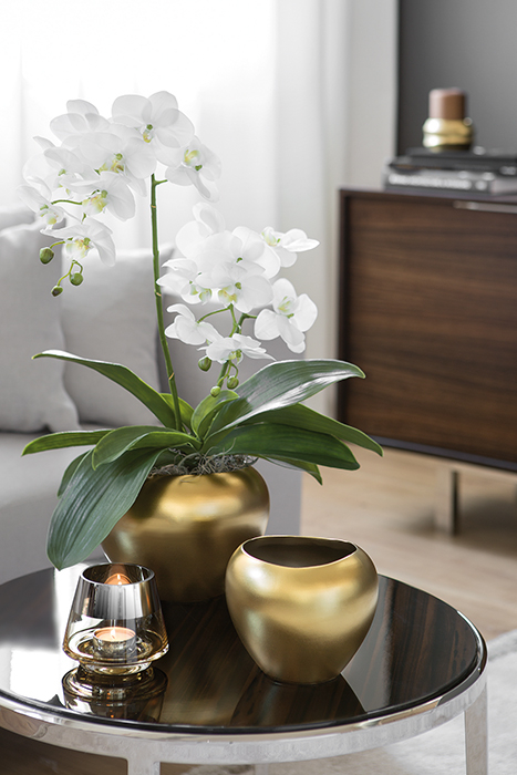 Vaza AVA, ceramica, auriu, 15x20 cm 1