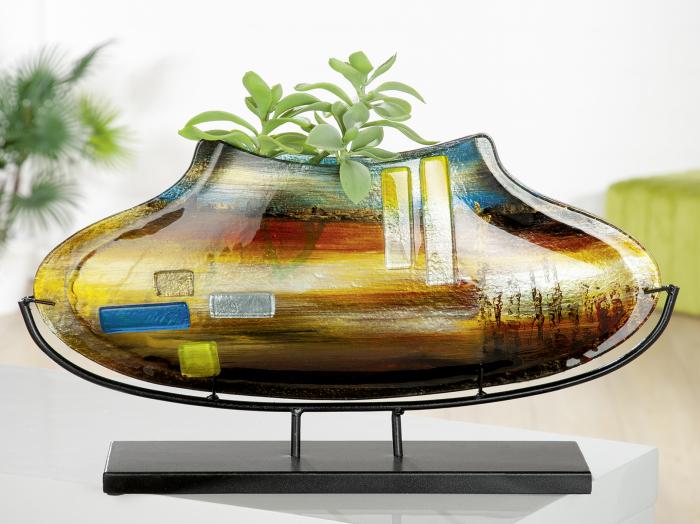 Vaza CAMPO, sticla, 11X53X29 cm lotusland.ro