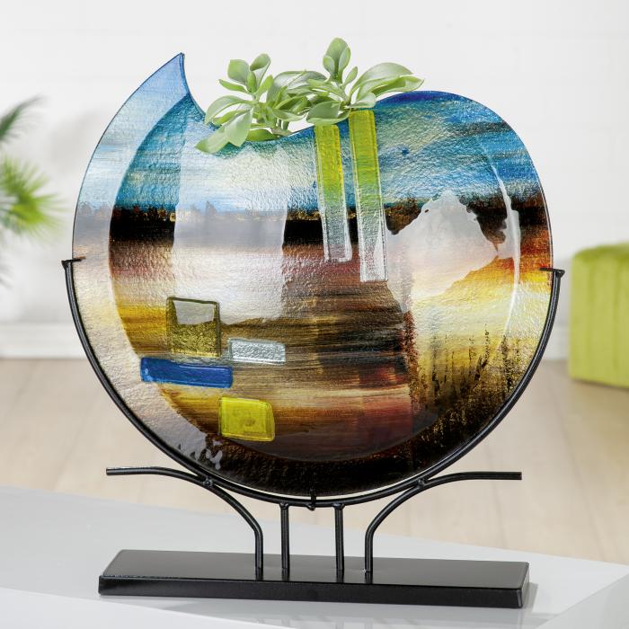 Vaza CAMPO, sticla, 47.5x49.5x10.5 cm 2021 lotusland.ro
