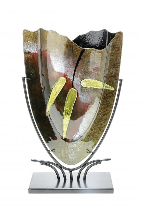 Vaza CANNETO, sticla, 29x10.5x47.5 cm 0