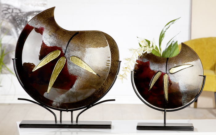 Vaza CANNETO, sticla, 32x37x9.5 cm 1