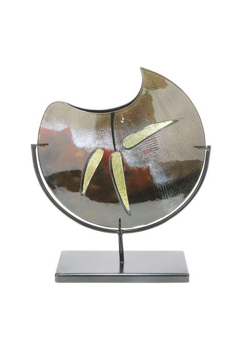 Vaza CANNETO, sticla, 32x37x9.5 cm imagine 2021 lotusland.ro