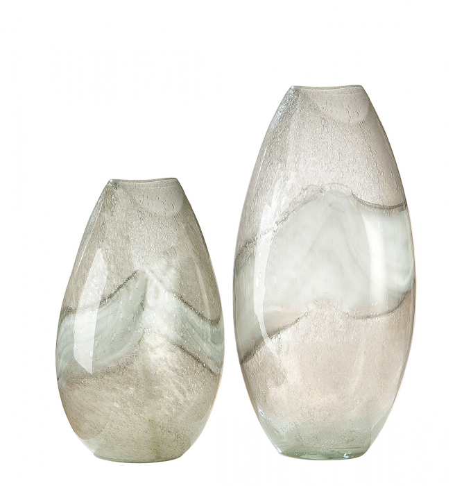 Vaza CANOSO, sticla, 21.5x15.5x44 cm lotusland.ro