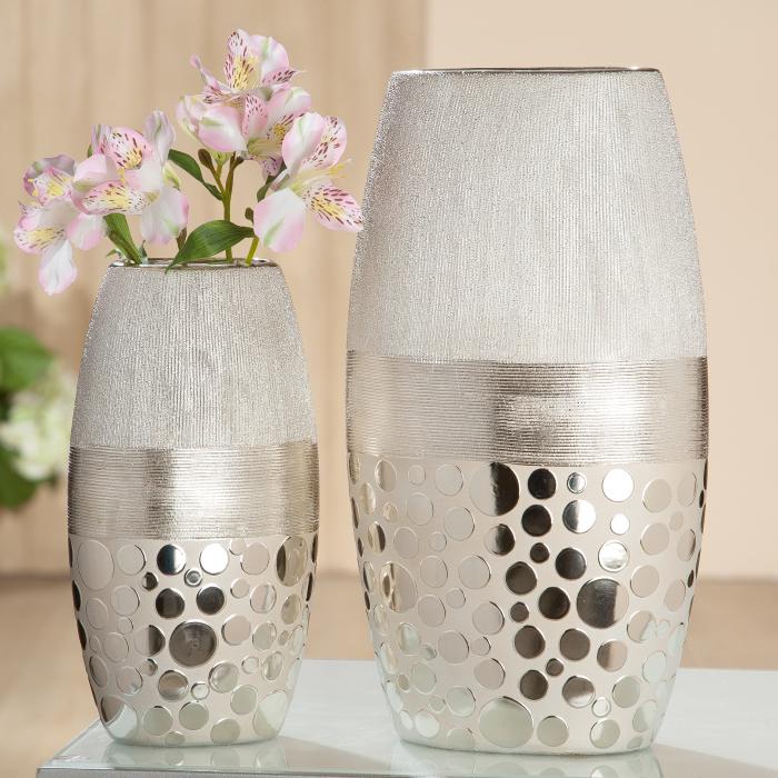 Vaza Capri, ceramica, bej, 19x34x12 cm lotusland.ro