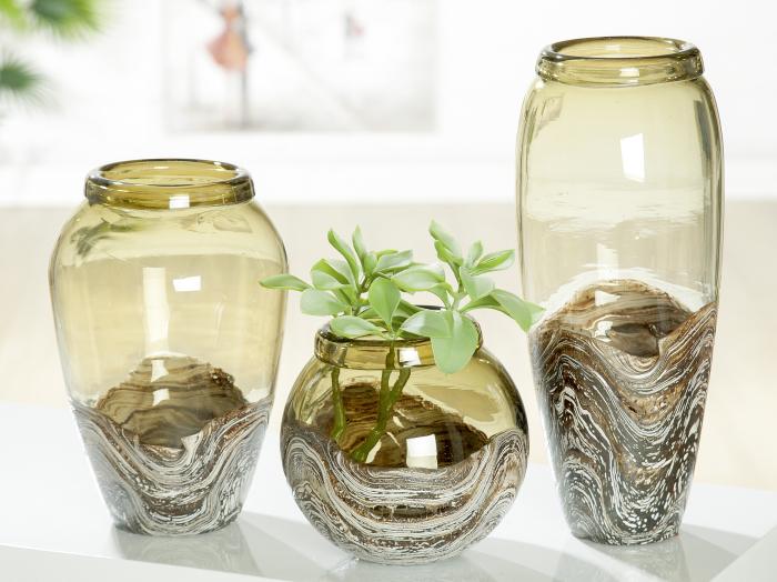 Vaza Casca, sticla, multicolor, 27x18 cm lotusland.ro