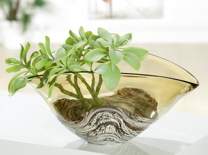 Vaza Casca, sticla, multicolor, 33.5x16.5x21 cm lotusland.ro
