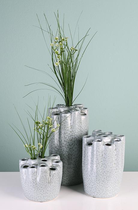 Vaza HOLES, ceramica, 20x14 cm 1