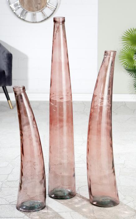Vaza Corno, sticla, transparenta, 100x20 cm lotusland.ro