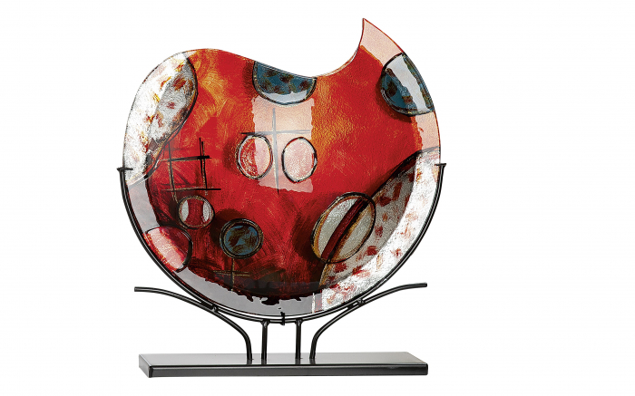 Vaza CROCE, sticla, 49.5x47.5x10.5 cm 2021 lotusland.ro