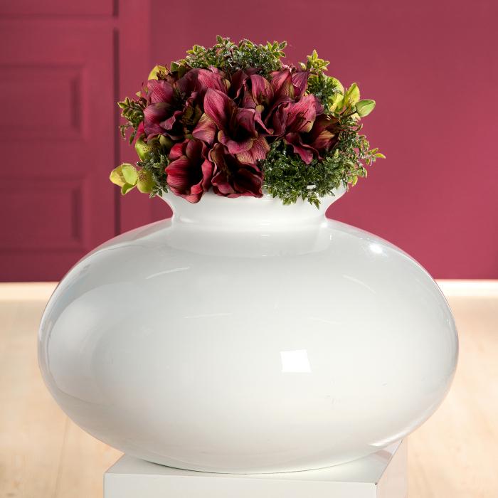 Vaza decorativa BIANCO, fibra de sticla, 60 x 40 cm 0