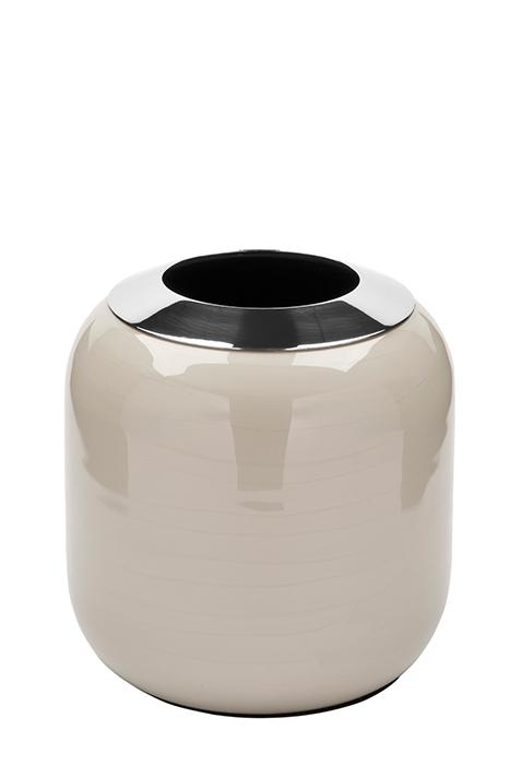 Vaza DIPA, otel inoxidabil/email, crem, 14x14 cm 0