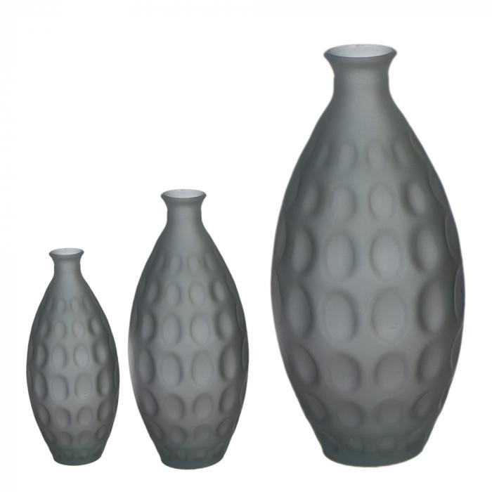 Vaza Dune, sticla, gri, 59x28 cm imagine 2021 lotusland.ro