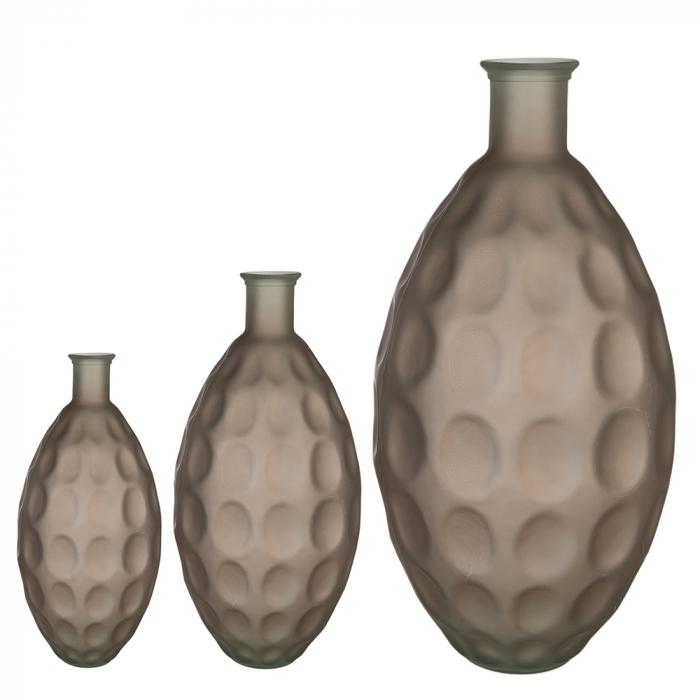 Vaza Dune, sticla, maro, 38x18 cm 2021 lotusland.ro