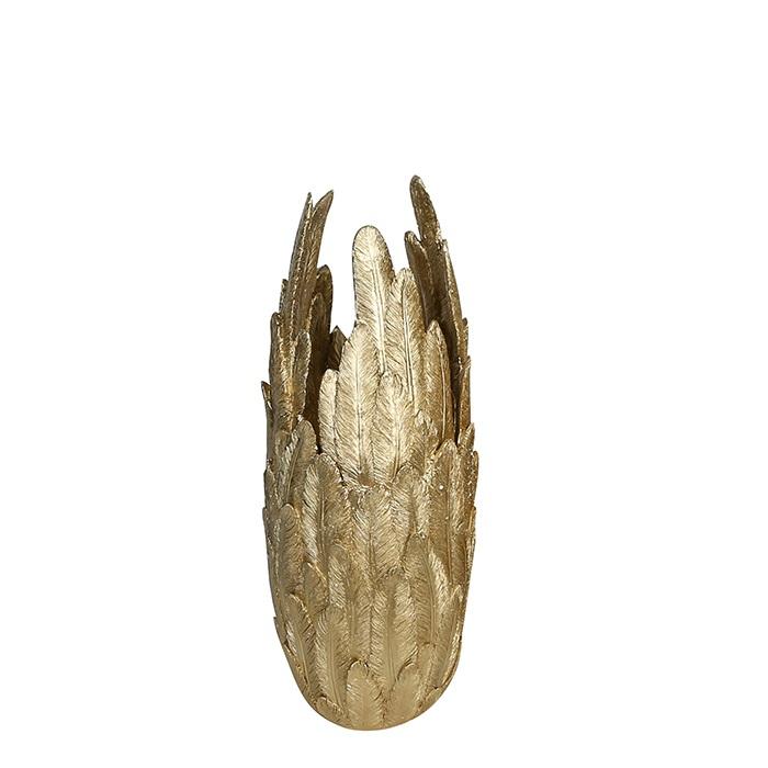 Vaza Feather rasina, auriu, inaltime 80cm imagine 2021 lotusland.ro