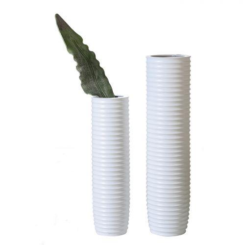 Vaza Gentle, ceramica, alb, 58x17 cm lotusland.ro