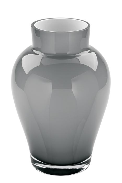 Vaza GOYA, sticla, gri, 22x15 cm 0