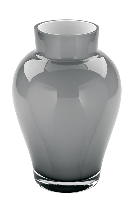 Vaza GOYA, sticla, gri, 22x15 cm imagine 2021 lotusland.ro