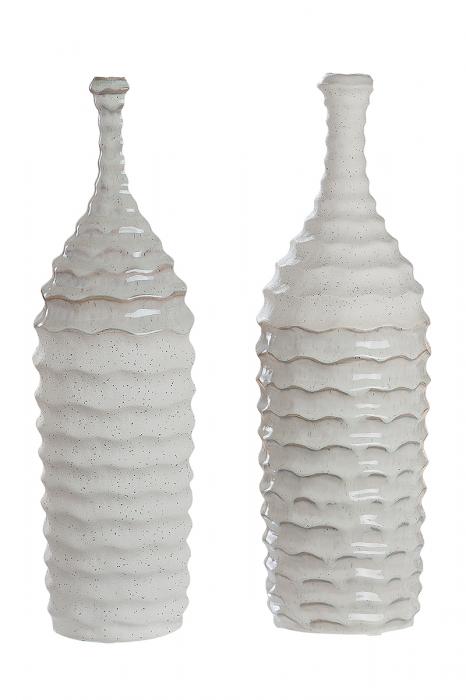 Vaza Granito, ceramica, alb, 14x14x16 cm 2021 lotusland.ro