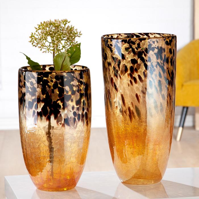 Vaza LEOPARDO, sticla, 18x36.5 cm 1