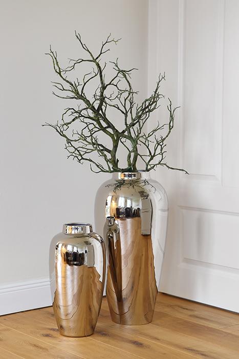 Vaza LIVORNO, metal/nichel, 40x20 cm 1