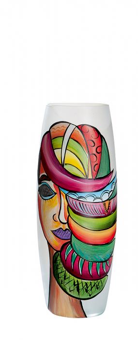 Vaza Misteriosa, sticla, multicolor, 39x15 cm imagine 2021 lotusland.ro