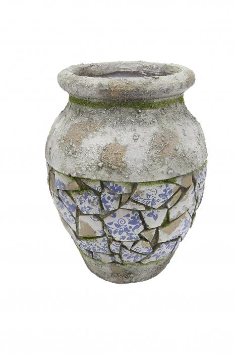 Vaza Mosaic, compozit, gri, 32x25 cm 0