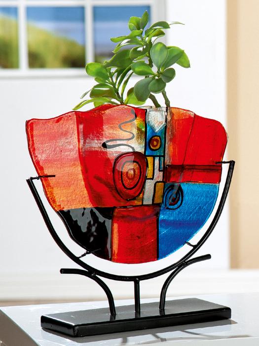 Vaza NEW LIFE, sticla, 49.5x45.5x10.5 cm lotusland.ro