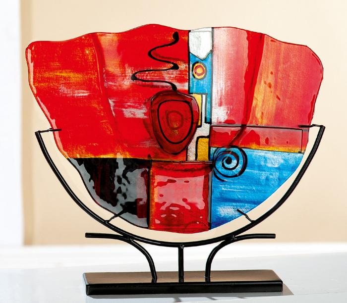 Vaza New Life, sticla, multicolor, 32.5x31.5x10.5 cm imagine 2021 lotusland.ro