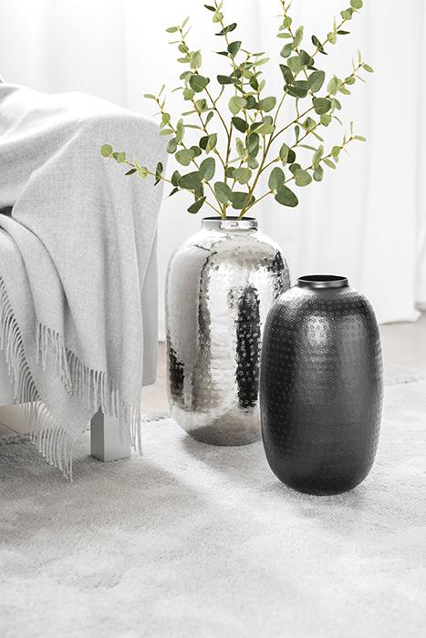 Vaza OMNIA, metal, negru, 40.5 cm lotusland.ro