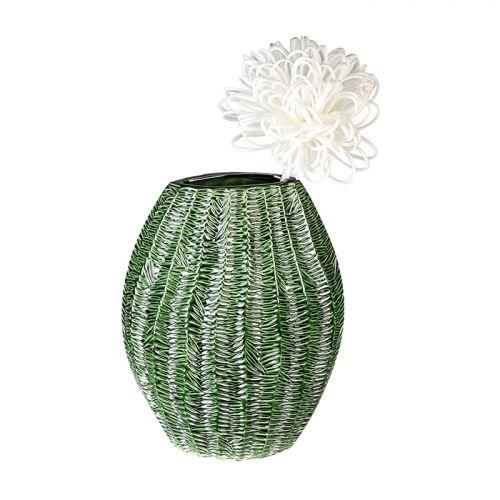 Vaza Organico, ceramica, verde, 10x24x31 cm 2021 lotusland.ro