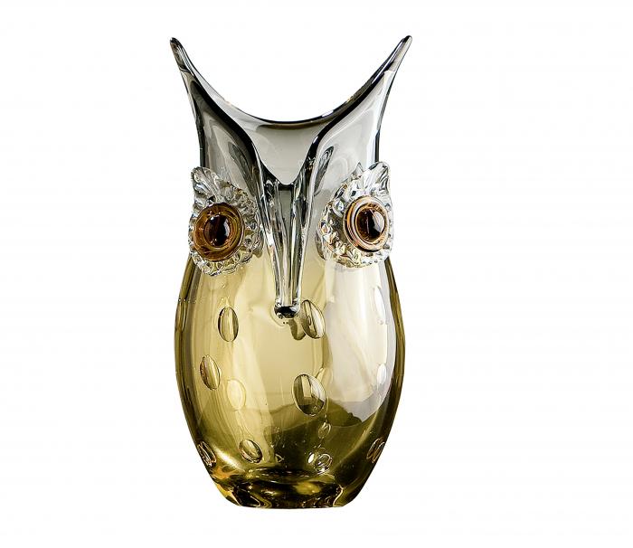 Vaza OWL, sticla, 12.5x23x12 cm 2021 lotusland.ro