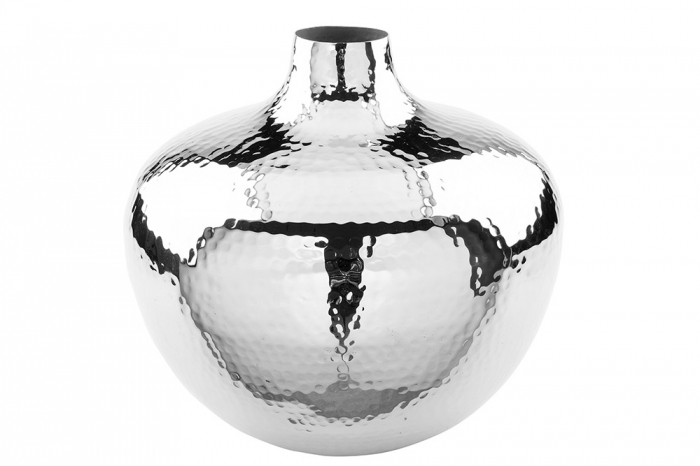Vaza PALLAS, metal/nichel, 25x27 cm 0