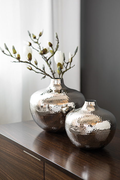 Vaza PALLAS, metal/nichel, 25x27 cm 1