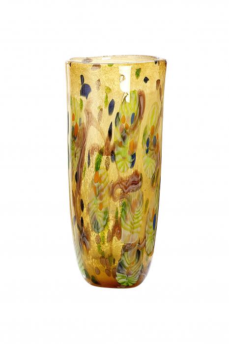 Vaza Primavera, sticla, multicolor, 41x18 cm lotusland.ro
