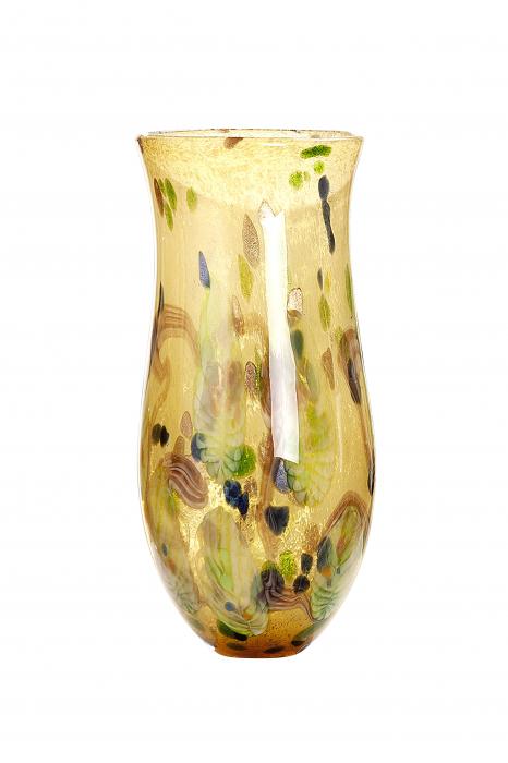 Vaza Primavera, sticla, multicolor, 45x22 cm 2021 lotusland.ro
