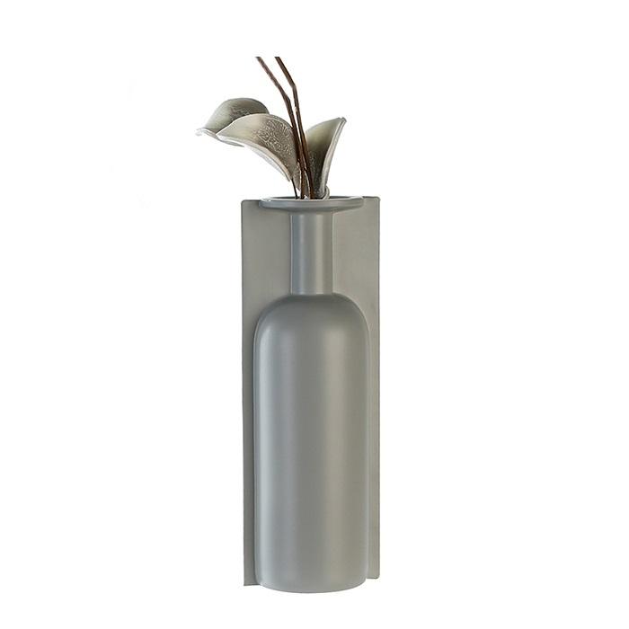 Vaza Primus gri, ceramica, 35.5x13x11 cm lotusland.ro