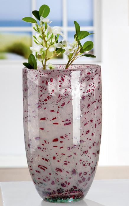 Vaza ROSE, sticla, 17.5x29 cm 2021 lotusland.ro