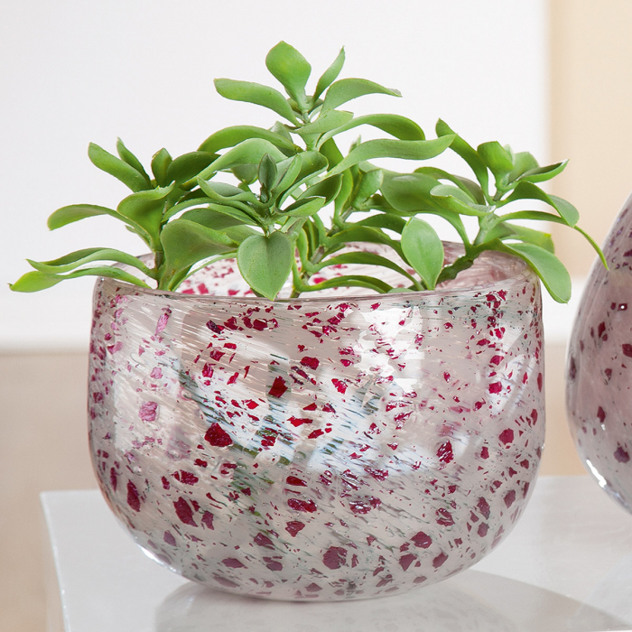 Vaza ROSE, sticla, 22x14.5 cm 0
