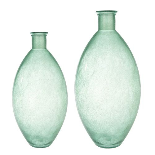 Vaza Sambia, sticla, alb verde, 59x29 cm lotusland.ro