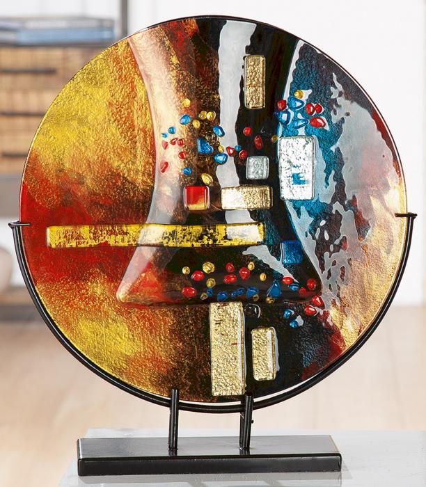 Vaza SOLEIL, sticla/metal, 44x40x10 cm 0
