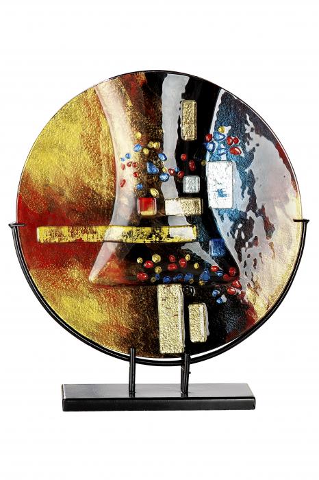 Vaza SOLEIL, sticla/metal, 44x40x10 cm 1