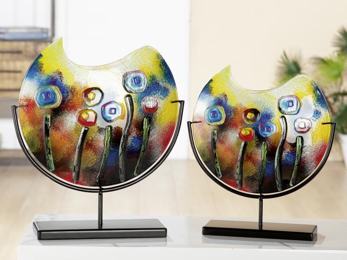 Vaza FRESH FLOWERS, sticla, 45x11x48 cm 1