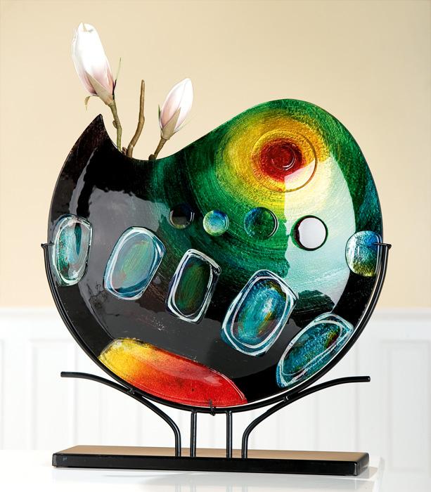 Vaza SUNRISE, sticla, 47x10x47 cm 0