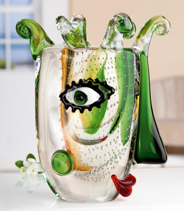 Vaza VISIONE, sticla, 26x14.5x31 cm 0