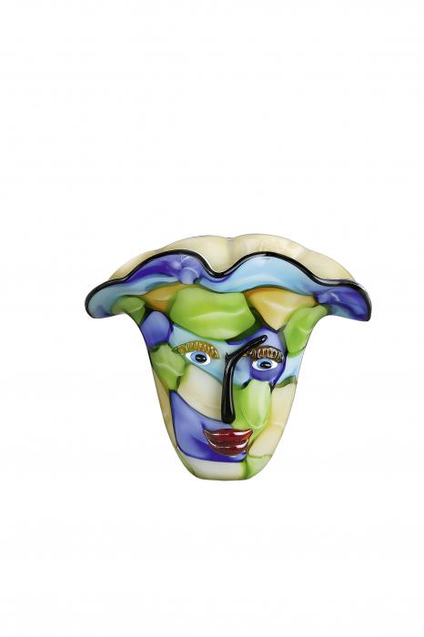 Vaza VISO, sticla, 35x22x29 cm 1