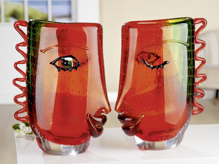 Vaza VISUALE, sticla, 13x22x31 cm 1