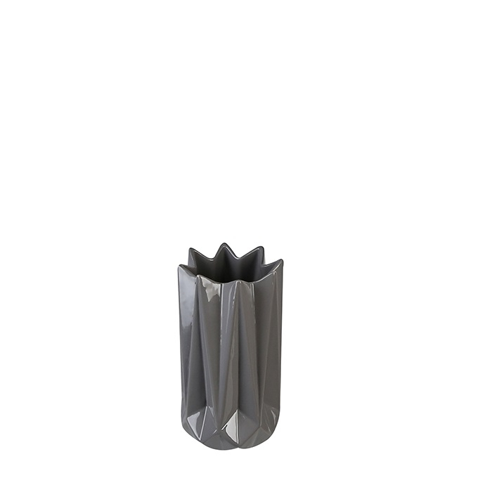 Vaza Zelko portelan, gri, inaltime 21 cm 2021 lotusland.ro
